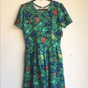 NWT Lularoe Amelia Dress Blue green
